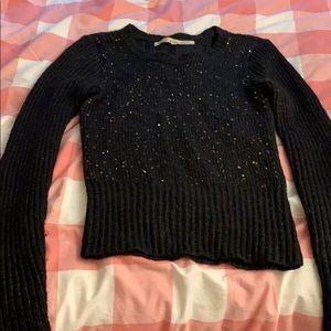 Rachel Rachel Roy Black Sequin Sweater